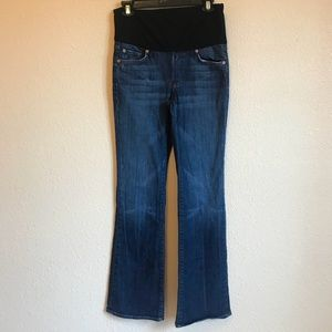 7 For All Mankind Womens Maternity Jeans Boot Cut